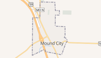 Mound City, Missouri map