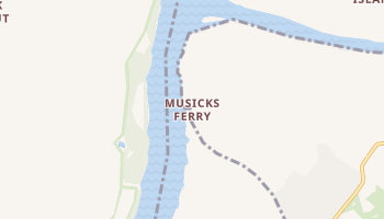 Musicks Ferry, Missouri map