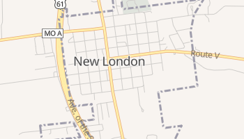 New London, Missouri map