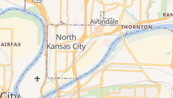 North Kansas City, Missouri map