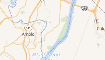 Oakville, Missouri map