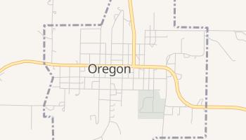 Oregon, Missouri map