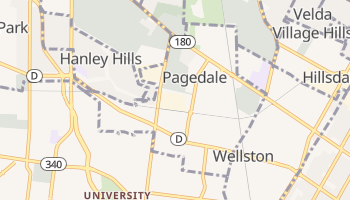 Pagedale, Missouri map
