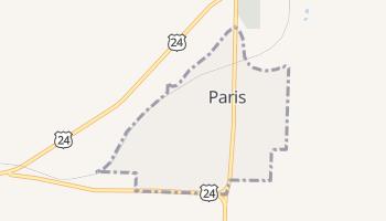 Paris, Missouri map