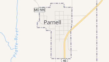 Parnell, Missouri map