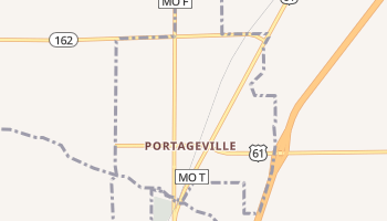 Portageville, Missouri map