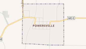 Powersville, Missouri map