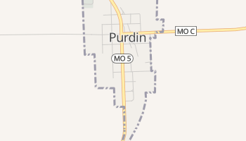 Purdin, Missouri map