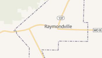 Raymondville, Missouri map