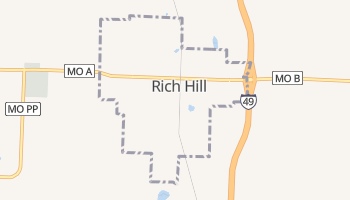 Rich Hill, Missouri map