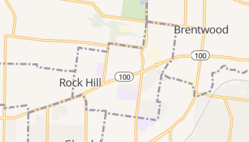 Rock Hill, Missouri map