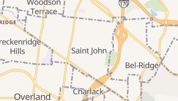 Saint Johns, Missouri map