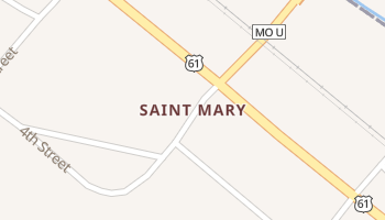Saint Mary, Missouri map