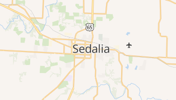 Sedalia, Missouri map
