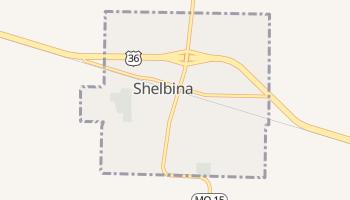 Shelbina, Missouri map