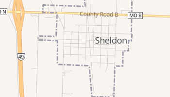 Sheldon, Missouri map