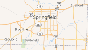 Springfield, Missouri map