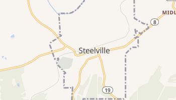 Steelville, Missouri map