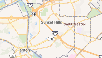 Sunset Hills, Missouri map