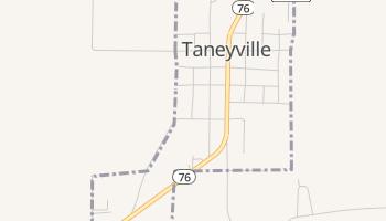 Taneyville, Missouri map