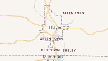 Thayer, Missouri map