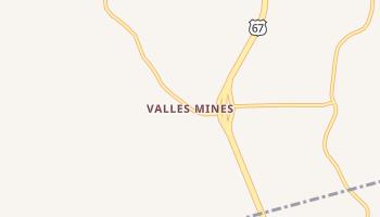 Valles Mines, Missouri map