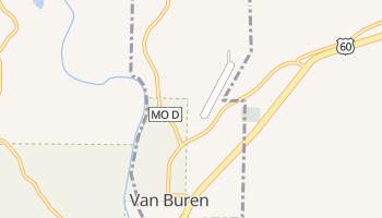Van Buren, Missouri map