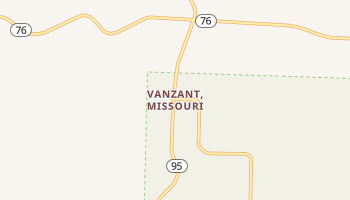 Vanzant, Missouri map
