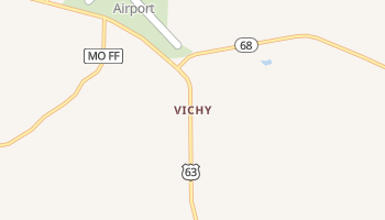 Vichy, Missouri map