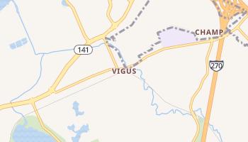 Vigus, Missouri map