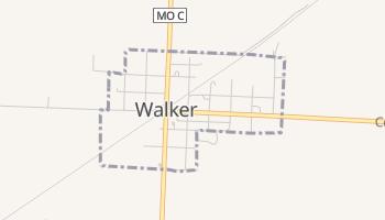 Walker, Missouri map