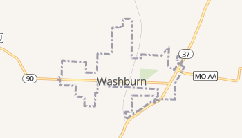 Washburn, Missouri map