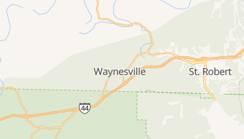 Waynesville, Missouri map