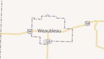 Weaubleau, Missouri map