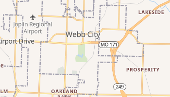 Webb City, Missouri map