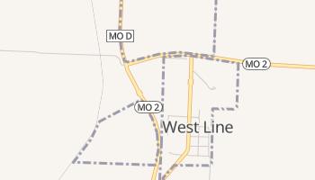 West Line, Missouri map