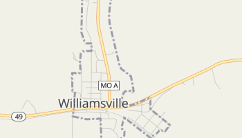 Williamsville, Missouri map