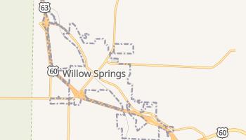 Willow Springs, Missouri map
