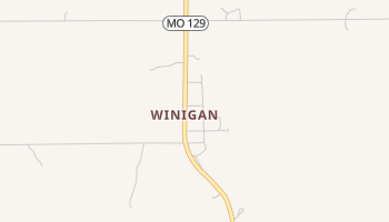 Winigan, Missouri map