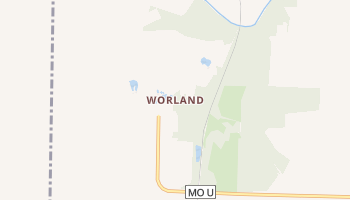 Worland, Missouri map