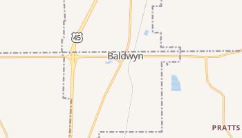 Baldwyn, Mississippi map