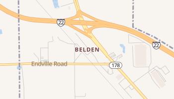 Belden, Mississippi map