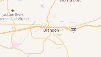 Brandon, Mississippi map