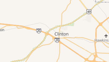 Clinton, Mississippi map