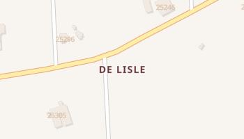 De Lisle, Mississippi map
