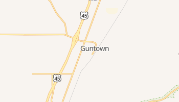 Guntown, Mississippi map
