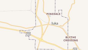 Iuka, Mississippi map