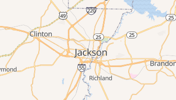 Jackson, Mississippi map