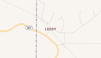 Leedy, Mississippi map