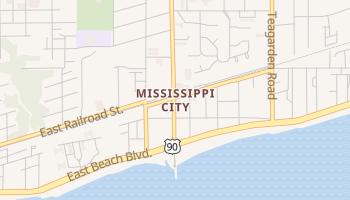 Mississippi City, Mississippi map